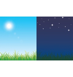 Day and night scene vector image