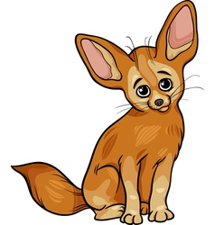 fennec fox animal cartoon vector image vector image