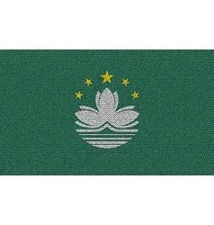 Flags Macau on denim texture vector image