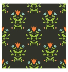 Floral damask vector image vector image