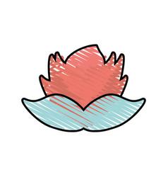 Flower floral leaf style decorative vector