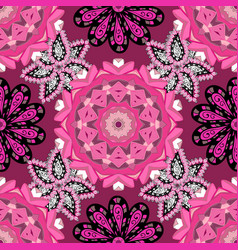 Flowers on pink purple and magenta colors flat vector