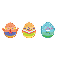 Geek easter egg style collection vector
