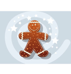 Gingerbread cookie icon christmas vector