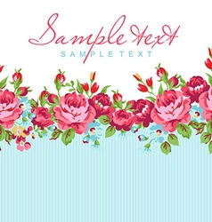 Greeting card with red rose vector image vector image