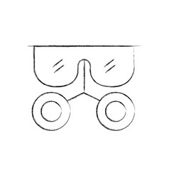 Laboratory glasses isolated icon vector