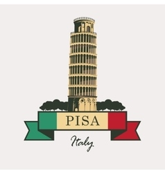 Leaning Tower of Pisa vector image vector image