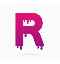 Letter R logo or symbol icon vector image