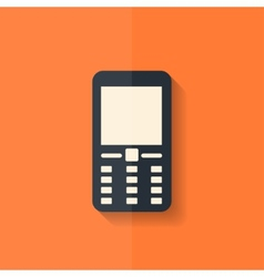 Mobile phone icon Flat design vector image