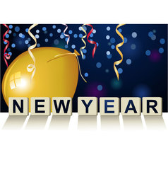 New Year game vector image vector image