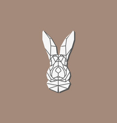 polygonal abstract rabbit head vector image