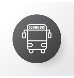 school bus icon symbol premium quality isolated vector image vector image