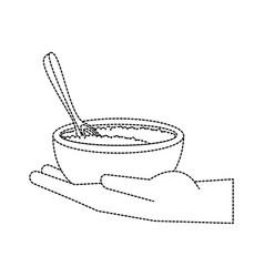 Spa sea salt in bowl vector
