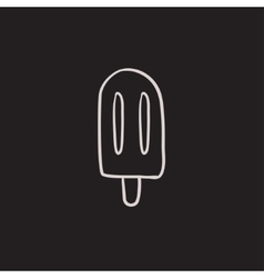 Popsicle sketch icon vector