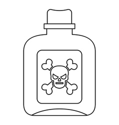 Poison icon outline style vector
