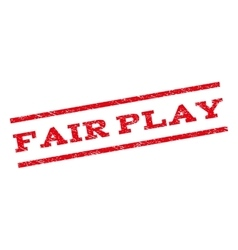 Fair play watermark stamp vector