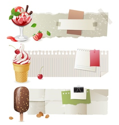 ice cream banners vector image