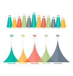Infographics elements triangle bar chart vector