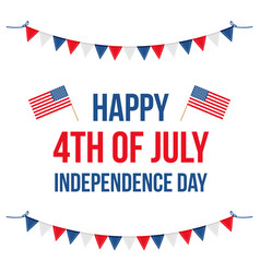4th of july flat design  card vector