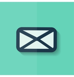 Letter icon email message sms flat design vector