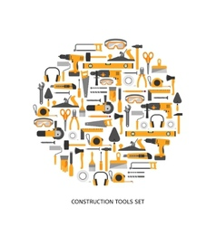 Construction tools icons set vector