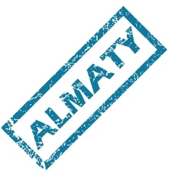 Almaty rubber stamp vector