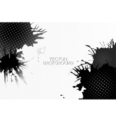Abstract hand drawn spotted gray-black background vector