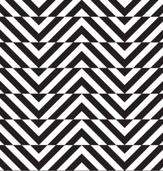 Black and white alternating slim chevron with vector