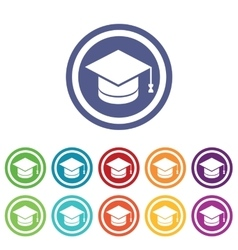 Graduation signs colored set vector