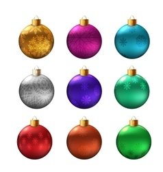 Set of christmas bauble vector