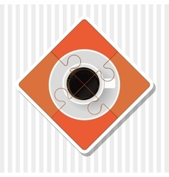 Puzzle of coffee cup design vector