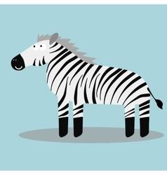 Happy cartoon zebra vector