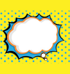 abstract blank speech bubble comic book pop art vector image vector image