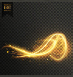 Awesome abstract golden light transparent effect vector