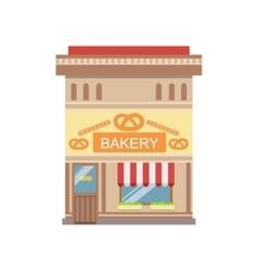 Bakery commercial building facade design vector