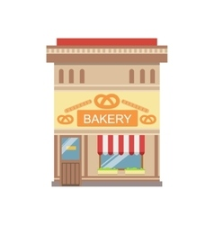 Bakery Commercial Building Facade Design vector image vector image