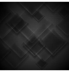 Black glass squares tech design vector