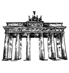 Brandenburg gate sketch vector