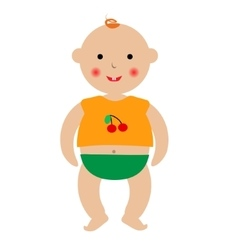 Cartoon baby drawing vector image vector image