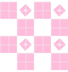 Chessboard pink background vector