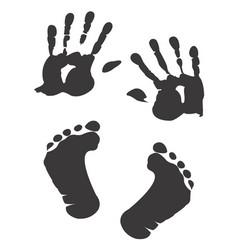 Children s handprint and footprint vector