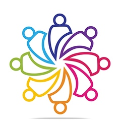 Circle people concept teamwork vector
