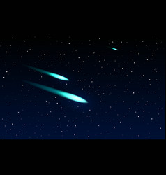 comets flying through space vector image vector image