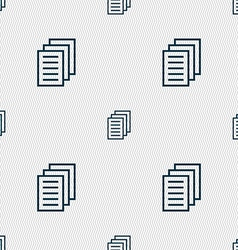 Copy file duplicate document icon sign seamless vector