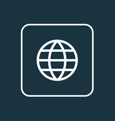 earth outline symbol premium quality isolated vector image