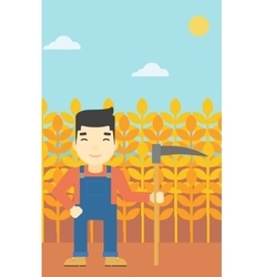 Farmer with scythe vector