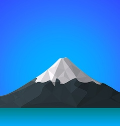 Flat abstract polygonal fuji mountain icon vector