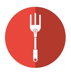 garden fork handle shadow vector image