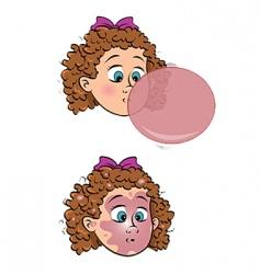 Girl bubblegum pop vector