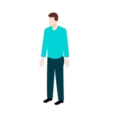 Isometric man in casual clothes vector image vector image